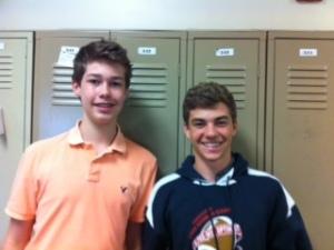 Freshmen smiles.
