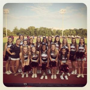 cheerleaders showed their spirit and got the crowd enthused Friday night.
