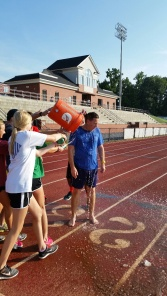 Mr. Campbell takes the ice water challenge and nominates the deans!