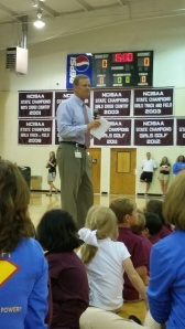 Matt Gossage welcomes all students back to Cannon.