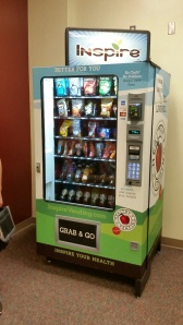 Students are really enjoying our new vending machine  on the second floor.