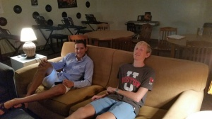 Having a couch in advisory is a blessing!