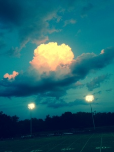 The sky at Friday's football game was just awesome.