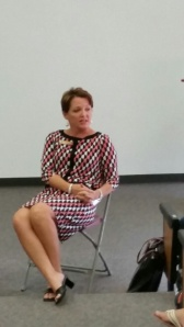 Ms. Otey spent her day speaking to Freshmen about the use of appropriate language at Cannon.