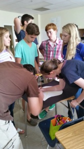 Teamwork at its finest in English class.