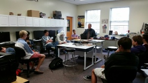 Mr. Ruddy's class already discussing video for Half Way There.