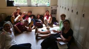 Sophomores study AP Euro together.