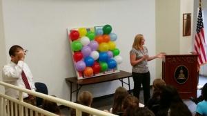 Mrs. McClanahan helped freshmen to understand their summer opportunities.