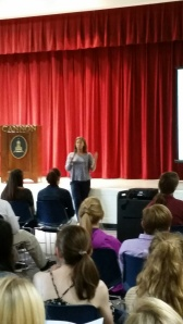 Mrs. Mee talked about how sophomores can make the best of their year.