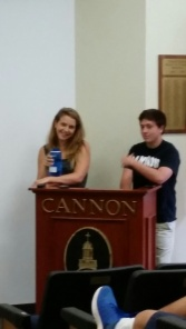 Sydney and Will helped to teach about public speaking.