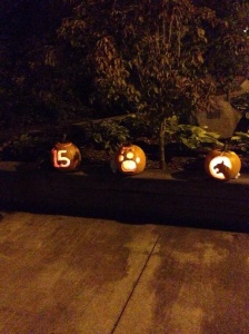 Seniors carved some awesome pumpkins on their retreat.
