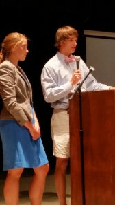 Emily and Davis announced the new intramural program at our last community meeting.