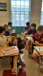 Group reading in English II.