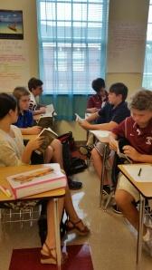 Group reading in English II.