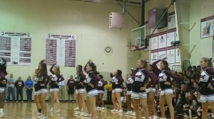 Cheerleaders brought their spirit to the pep rally.