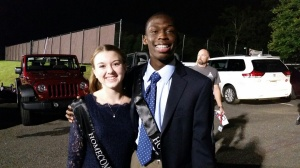 Freshmen prince and princess.