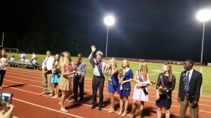 Congratulations homecoming court. King and Queen are beautiful.