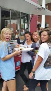 Seniors enjoyed Food truck Friday.. Belly Backers!