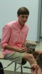 Junior shared his story during advisory. Nicely done.