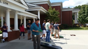 The lunchtime corn hole tournament last week was a success. Fun was had by all.