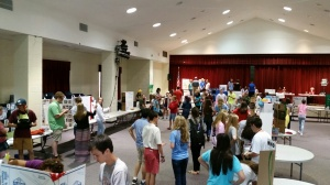 Club and service fair drew a crowd.