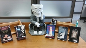 The library is ready for the Halloween season.