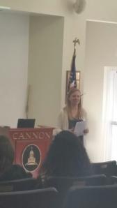 Ms. Owens spoke to freshmen about plagiarism.