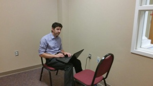 Poor Mr. Macdonald waiting for his internet to be connected in the CPAC.