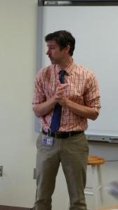 Mr Mac teaches our sophomores.