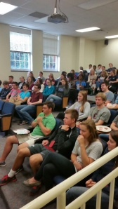 Seniors gathered in Foundation Hall to learn a bit more about the final College Application process.