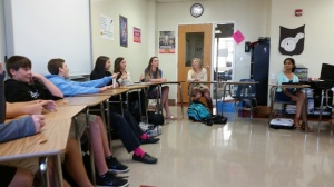 English students discuss the rationale behind the music they chose to represent characters from Merchant of Venice.