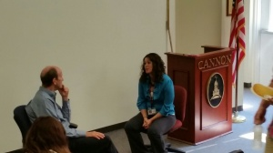 Guest speaker came to talk with our upper school psychology classes on Thursday of last week.