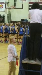 College counselor by day, volleyball line coach by afternoon! Thanks Mrs. McClanahan.