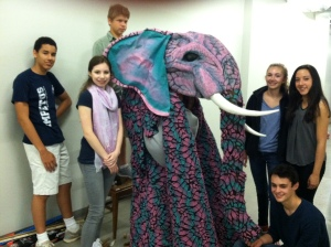 Theatre students met a new friend in the CPAC.