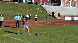 kickin' it at kick ball.