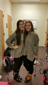Twinsies on Claire's birthday.