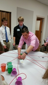 Harrison worked with student council members from other independent schools.