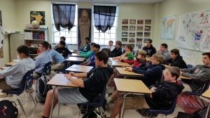 Students enamored by their discussion about forging toward one's dreams.