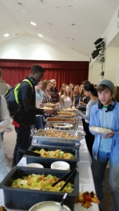 Catered lunch for the sophomore team.