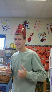 Amazing hat building skills.