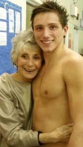 Thanks Grandma for supporting our swimmer.