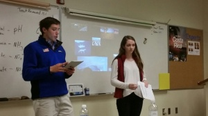 Harrison and Caroline led a middle school leadership seminar yesterday.