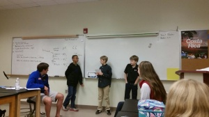 Kudos to middle school leaders sharing their voice with Upper school Student Council.