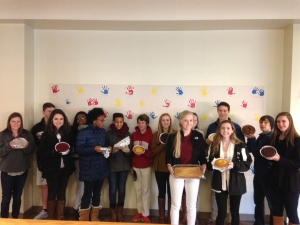 Students in the Food! Winterm created cakes, which the Basics of Cake Decorating class frosted. The cakes were then donated to Angels and Sparrows so the less fortunate could have a birthday cake