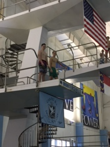 Students dive from 5m during Winterm.