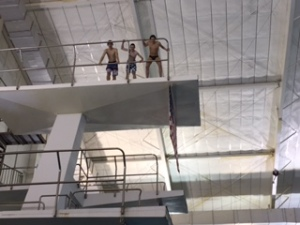 Diving from 10 m during Winterm.