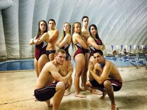 Senior Swimmers pose.