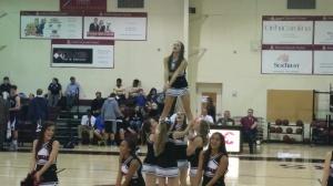 Cheerleaders have the spirit.