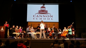 Beautiful strings concert during community meeting last week.