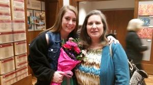 Mom congratulates Hannah.